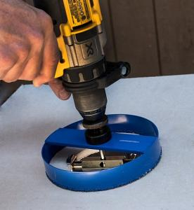 Hole Pro Hole Enlarger tool in use